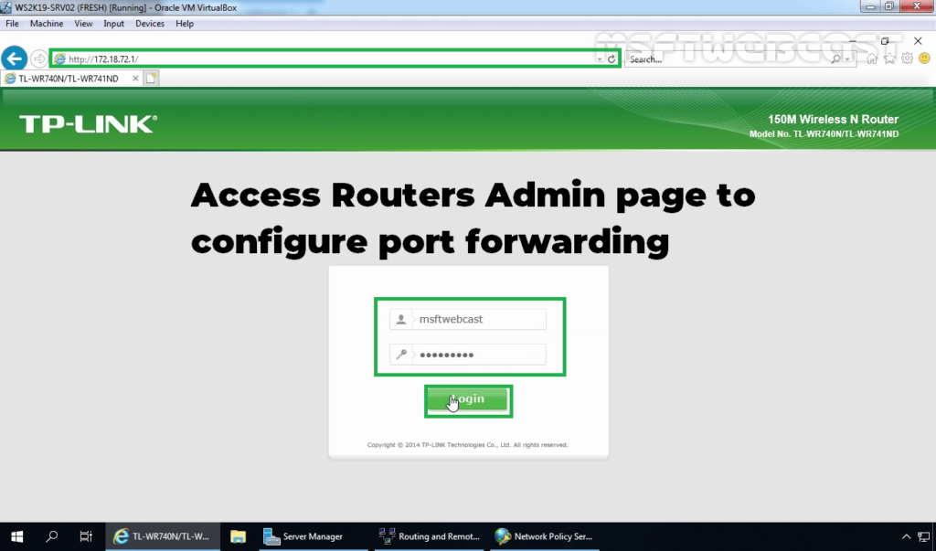 1. Access Router Management Console