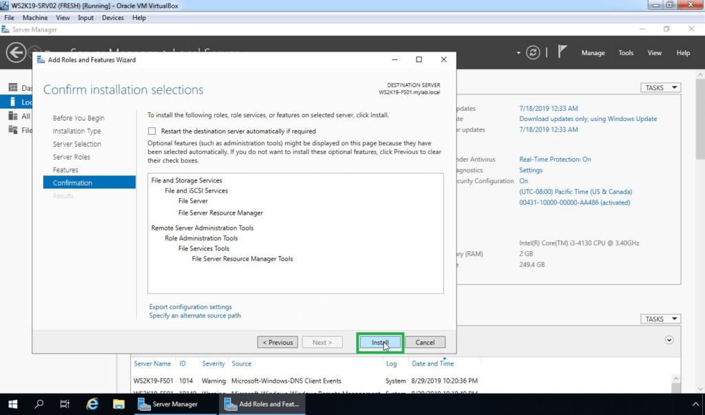 10. Click on Install to start the process