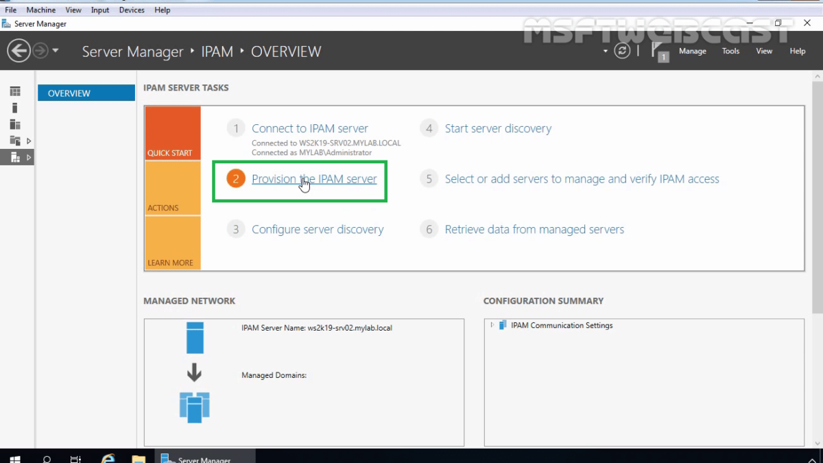 Install and Configure IPAM in Windows Server 2019