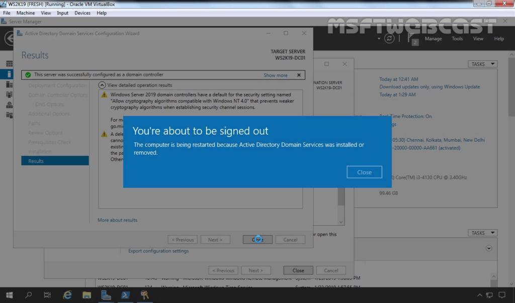 21. Server will restart automatically