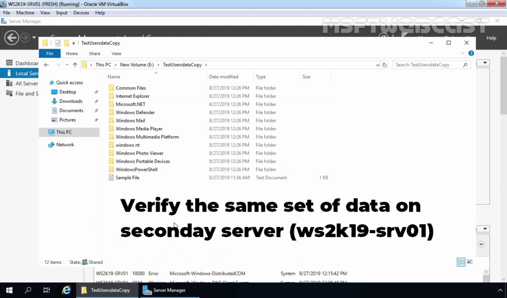 27 Verify the same data on secondary server