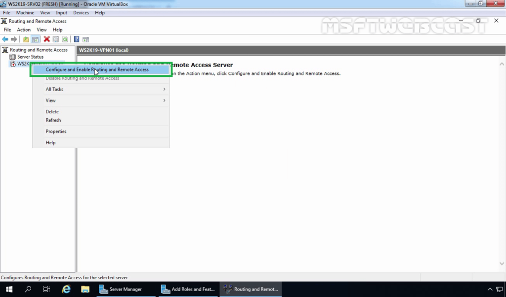 3. Configure and Enable Routing and Remote Access