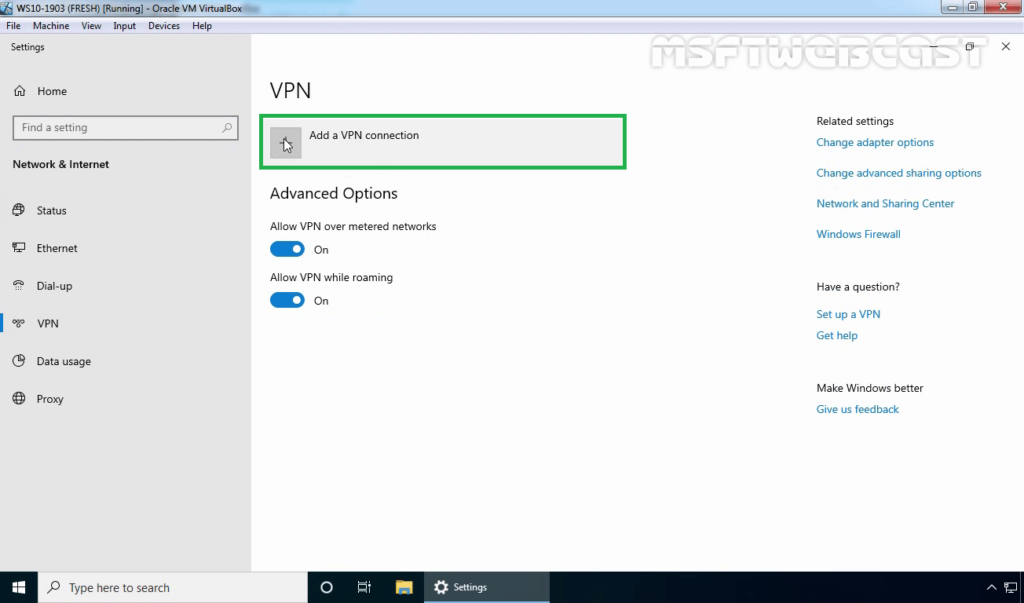 7. Click on Plus Sign to Add New VPN Connection