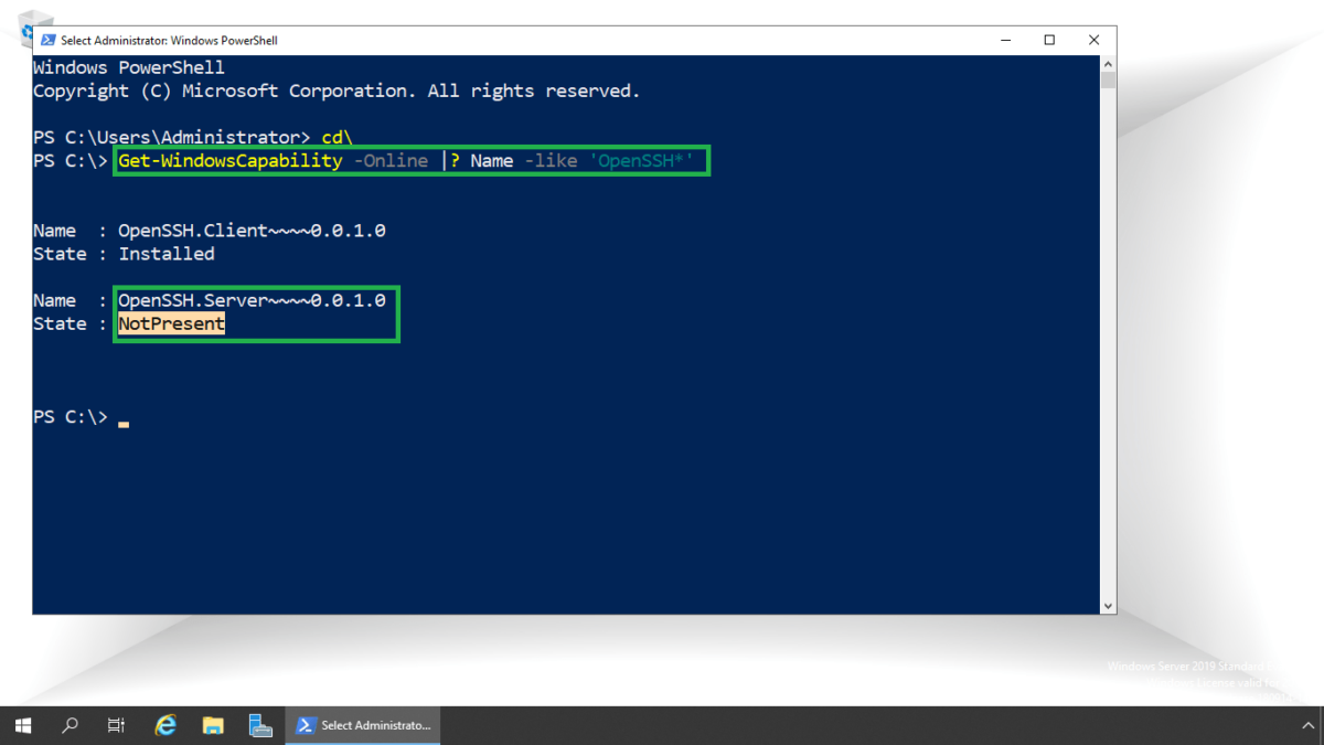 Install and Configure Open SSH Service on Windows Server 2019