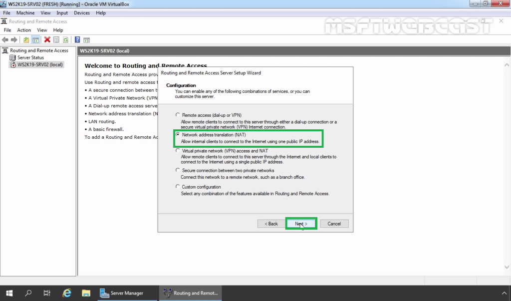 11. select network address translation nat
