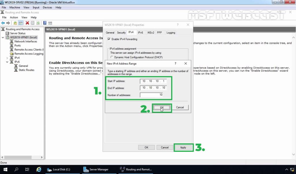 12. Specify the IP Address Range