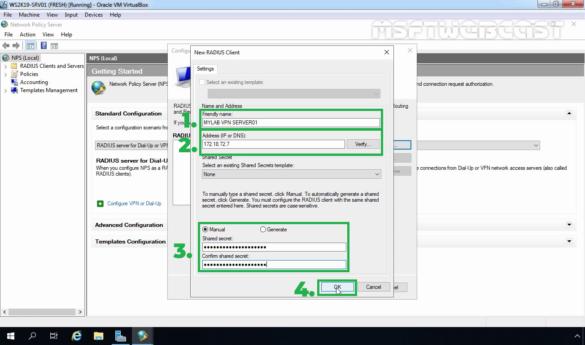 17. specify radius client details