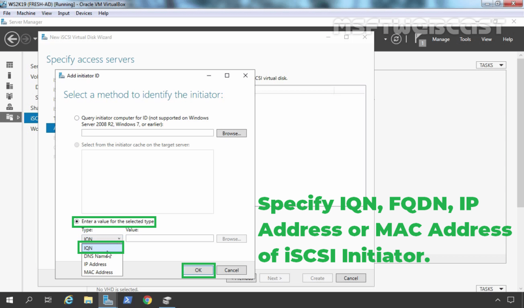 18. Select IQN Identifier