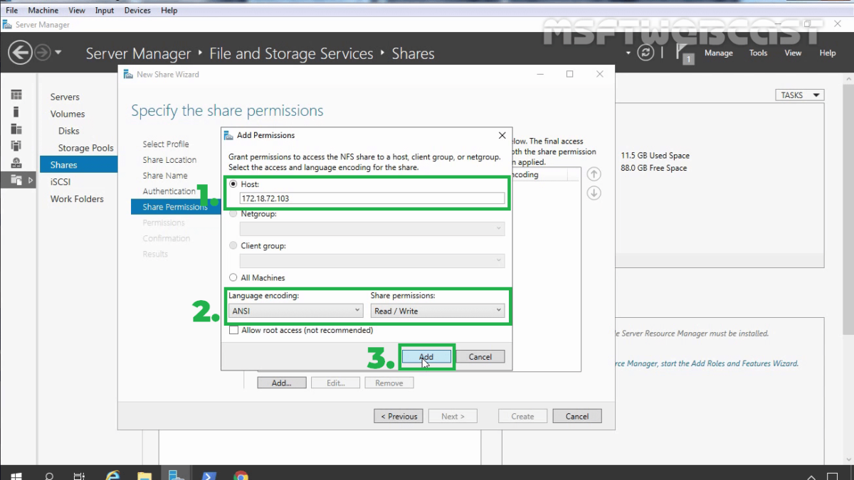 How to Configure NFS Share in Windows Server 2019