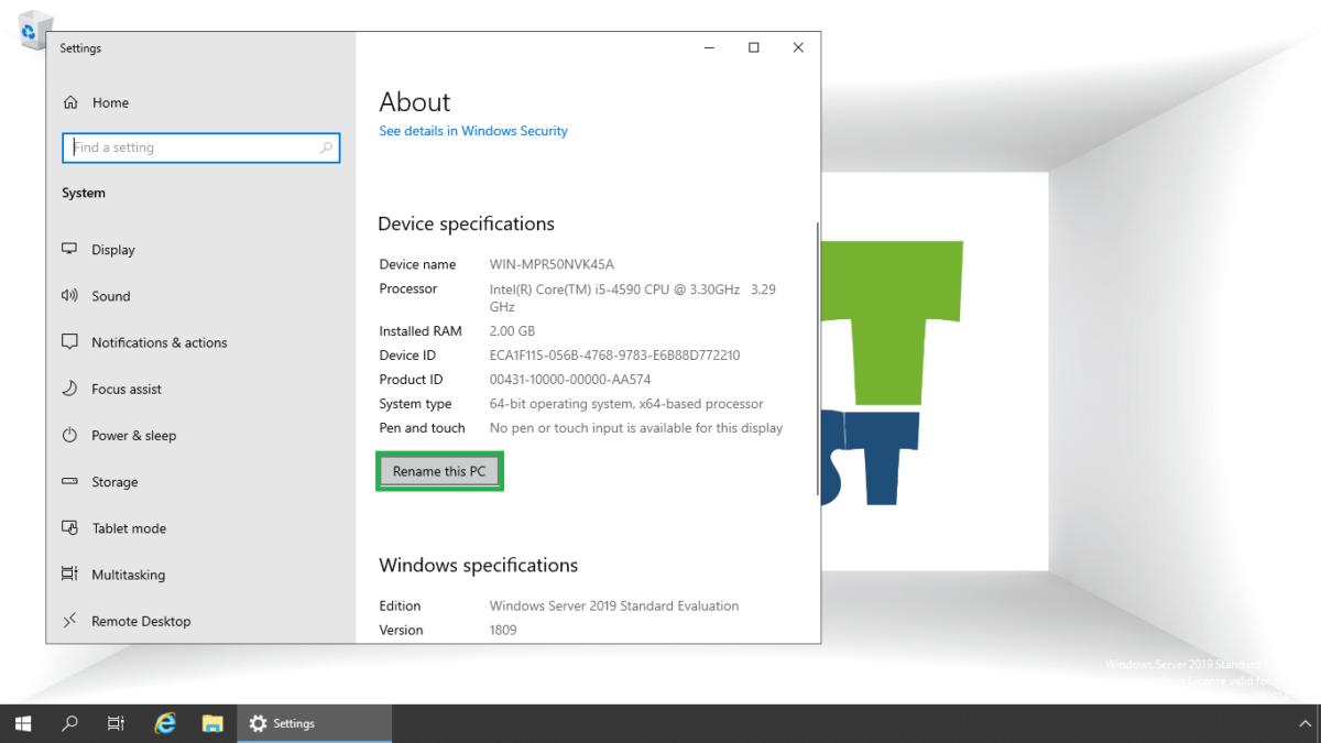 Different Ways to Rename Windows Server 2019