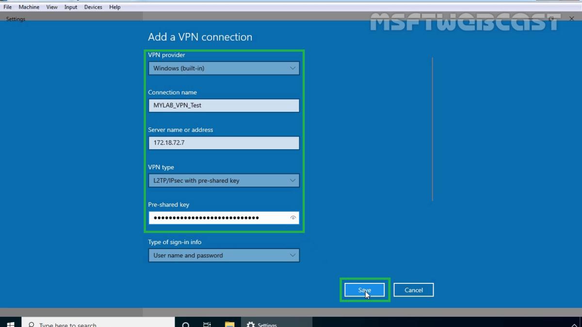 How to Setup L2TP/IPsec VPN on Windows Server 2019