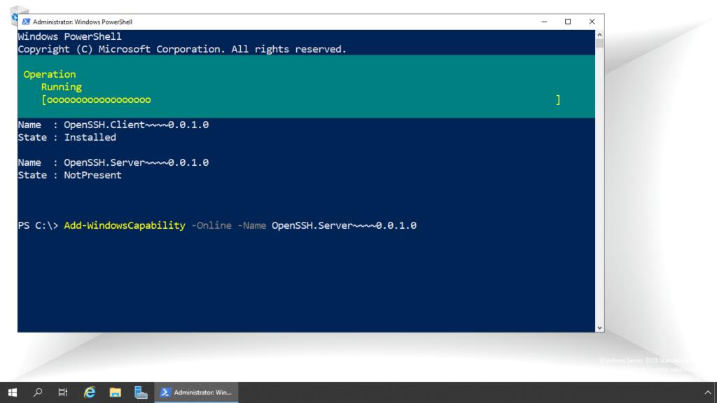 2. install ssh server package