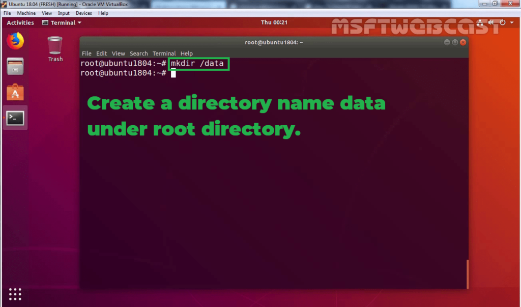 25. Create one new directory