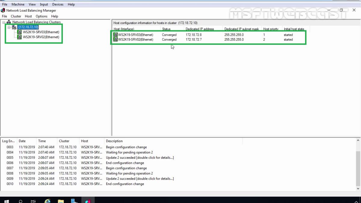 Configure Network Load Balancing in Windows Server 2019