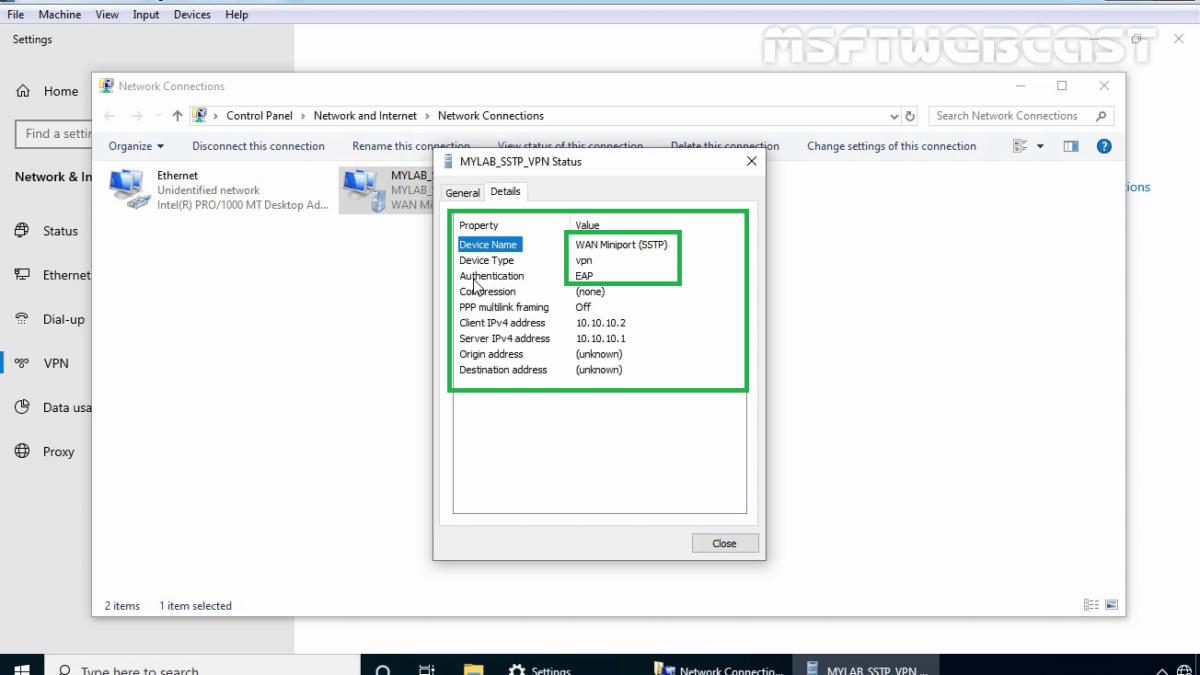 Configure SSTP VPN with Self-Signed Certificate on Windows Server 2019
