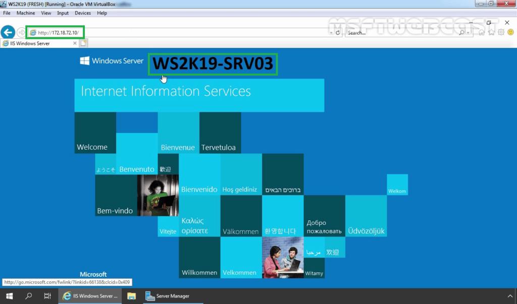 29. Access NLB Cluster Website