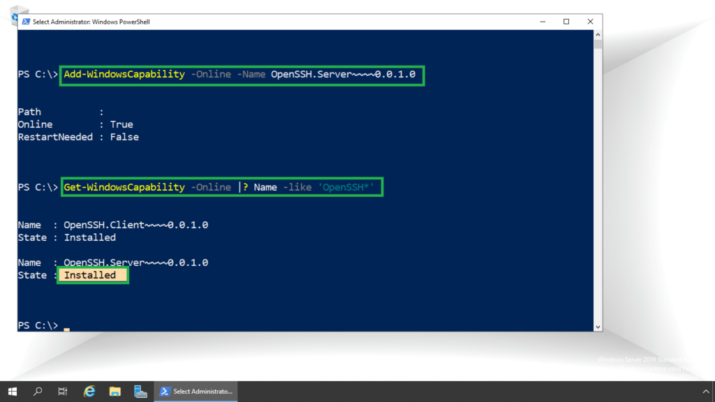 3. verify ssh server package is installed