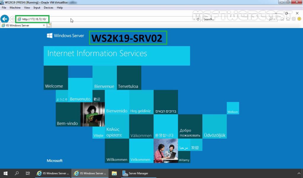 31. Access NLB Cluster Website again