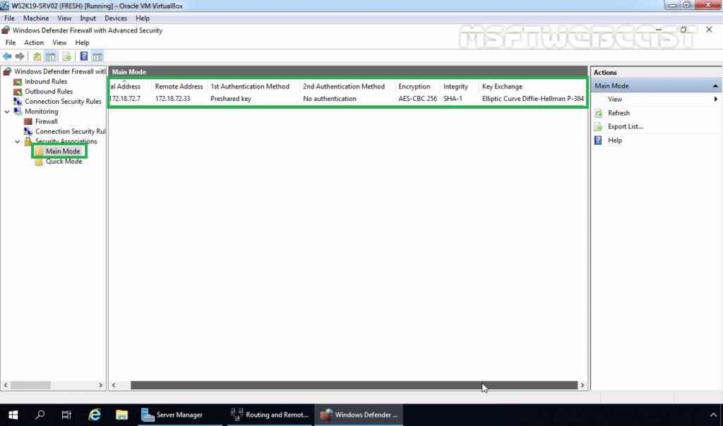 4. Monitor IPsec Main Mode Information