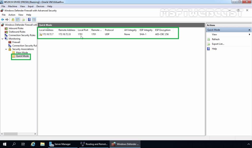 5. Monitor IPsec Quick Mode Information