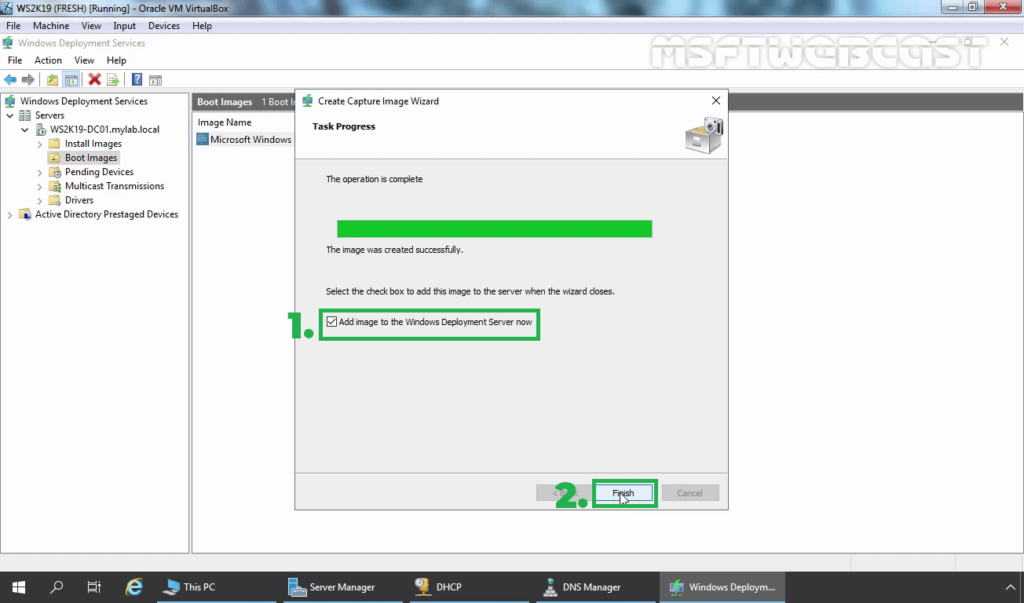5. Select Add to Boot image checkbox