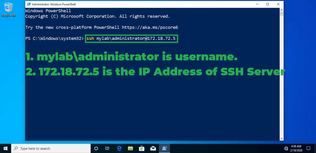 9. connect to server using ssh