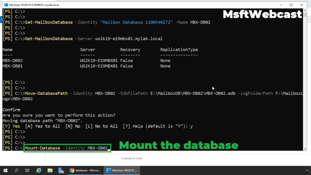 10. mount the database