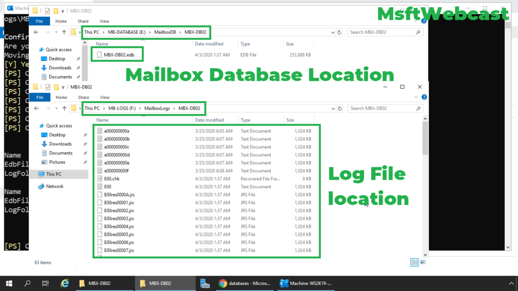 12. check database and log files path in file explorer