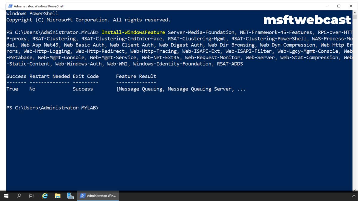 Install Exchange Server 2019 on Windows Server 2019: Part-1