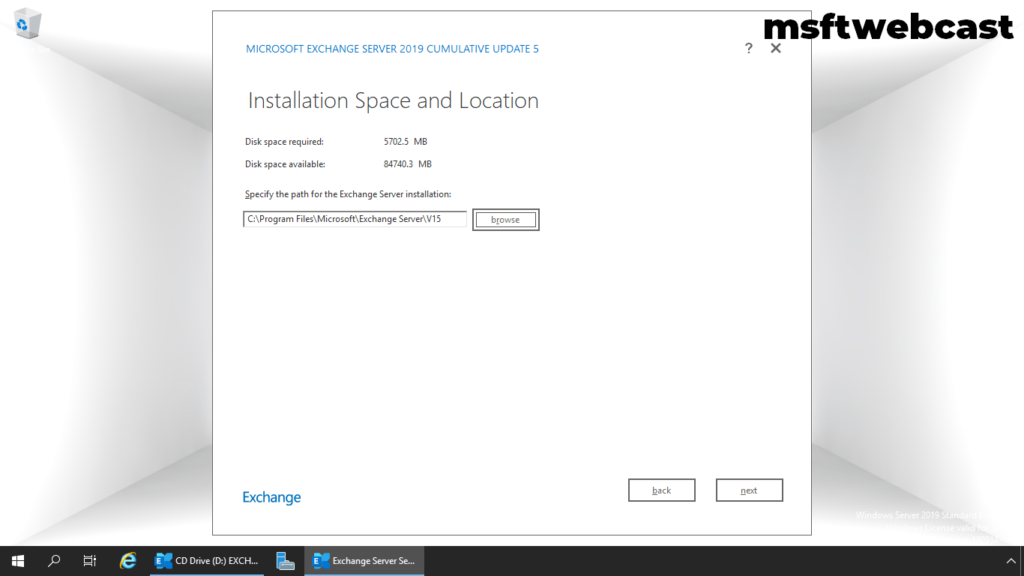 16. specify installation location