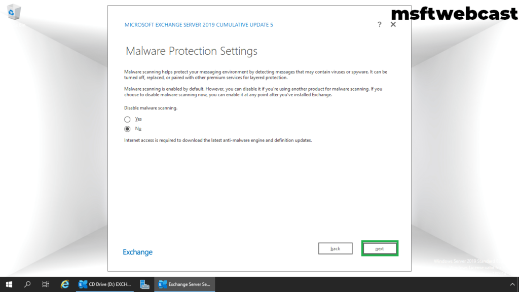 17. enable malware protection