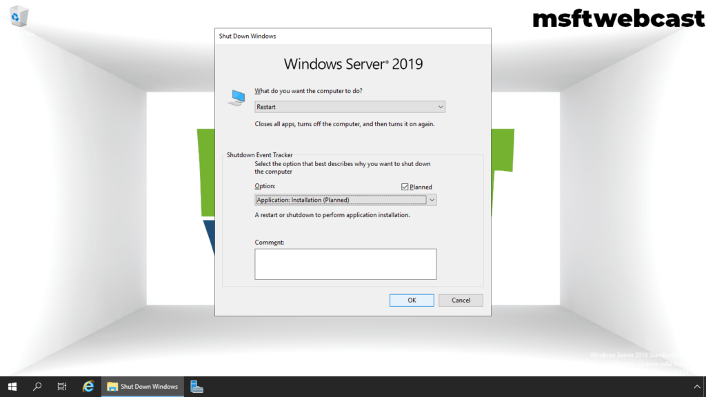 21. restart the server 2019 after installing exchange 2019