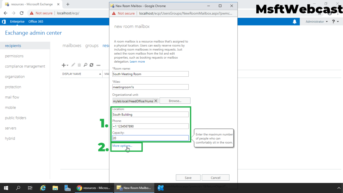 How to Create Resource Mailboxes in Exchange 2019