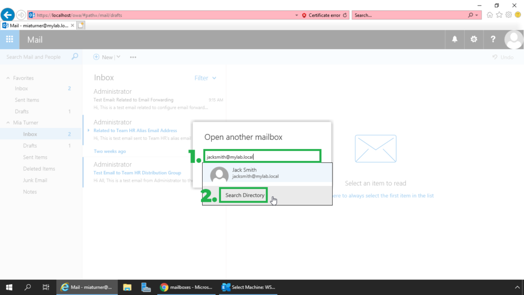 8. specify the email address of the user