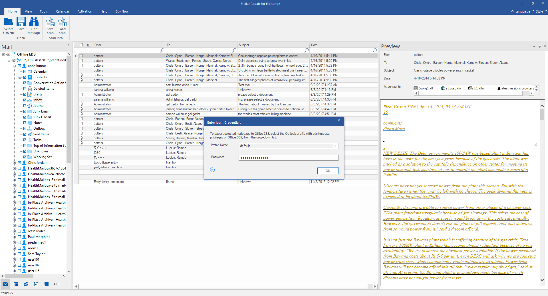 export to office 365